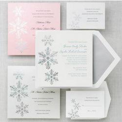 Shimmering Snowflake Wedding Invitations