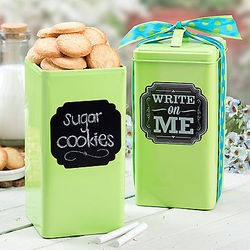 Green Summer Cookie Tin
