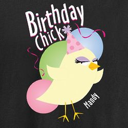 Personalized Birthday Chick T Shirt