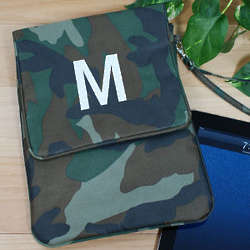 Embroidered Camo Tablet Case