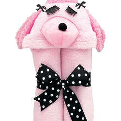 Pink Poodle Hooded Towel