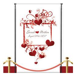 Custom Heart Frame Wedding Banner