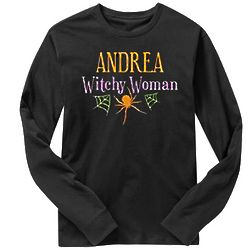 Personalized Witchy Woman Long Sleeve T-Shirt