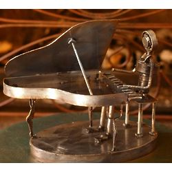 Upcycled Concert Pianist Sculpture