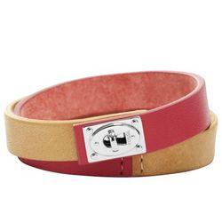 Two Tone Double Wrap Bracelet