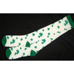 Adult's Shamrock Knee Socks
