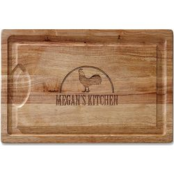 Personalized Rooster Carving Board