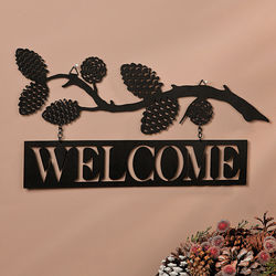 Welcome Lodge Metal Sign