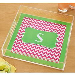 Personalized Chevron Square Acrylic Tray