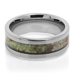 Decoy Camouflage Tungsten Carbide Wedding Band