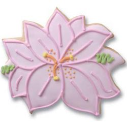 Orchid Decorated Bridal Shower Cookies
