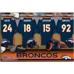 NFL Denver Broncos 12x18 Personalized Locker Room Canvas Print