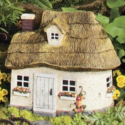 Miniature Fairy Garden Thatched Roof Cottage Findgift Com