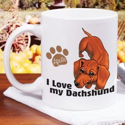 I Love My Dachshund Personalized 11-Ounce Mug