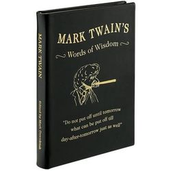 Mark Twain's Words of Wisdom - Leather Bound Edition Book