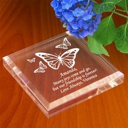Personalized Butterfly Keepsake & Paperweight