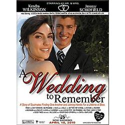Their Wedding as a Movie Poster on Canvas