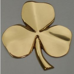 Irish Shamrock Solid Brass Wall Hanging