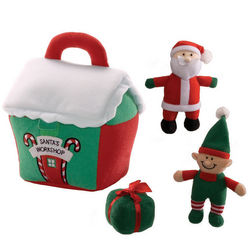 Santa's Workshop Plush Play Set