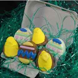 Egg Carton of Chocolate Oreos and Peeps