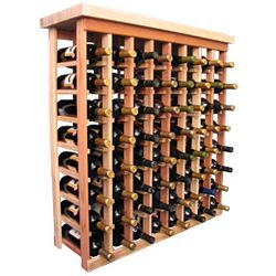 Wooden 64 Bottle Standard Tasting Table Wine Rack Kit