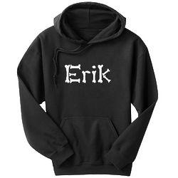 Personalized Halloween Bones Name Hoodie