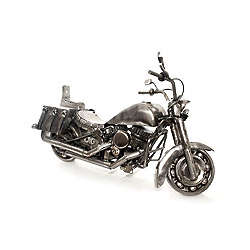 Adventurous Motorbike Auto Parts Sculpture