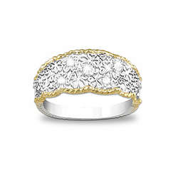 Floral Lace Diamond Eternity Ring