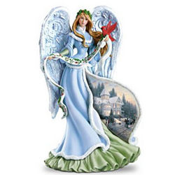 Holly Angel Illuminating Angel Figurine
