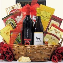 Two Black Dogs Wine Gift Basket