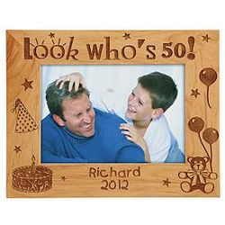 Look Who's Personalized Age Wooden Frame