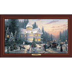 Victorian Christmas Lighted Fiber Optic Canvas Print