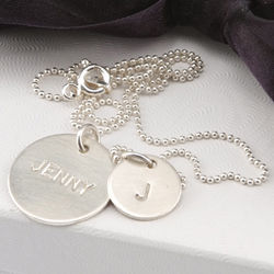 Personalized Double Charm Necklace