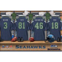 Seattle Seahawks Personalized 24x36 Locker Room Canvas