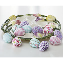 Dozen Decorative Calico Eggs