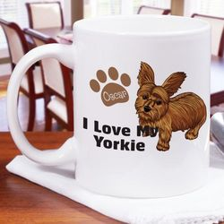 I Love My Yorkie Personalized 11-Ounce Mug