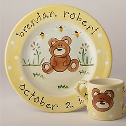 Personalized Bear Baby Ceramic Plate
