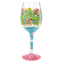 Wishful Blooming Wine Glass