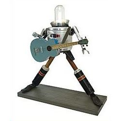 Rock Star Robot Illuminated Sculpture