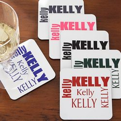 Just for You Personalized Coaster Set