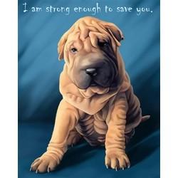 Shar-pei Puppy Print