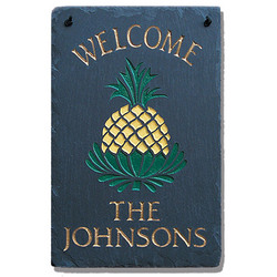 Personalized Pineapple Slate Sign