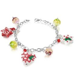 Christmas Hearts and Stars Bracelet