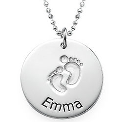 Personalized Baby Steps Necklace