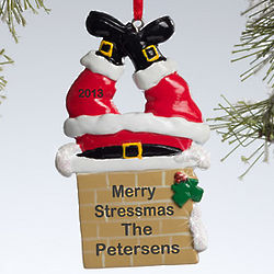 Personalized Santa Claus Chimney Ornament