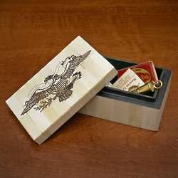 Great Seal Scrimshaw Carved Bone Box