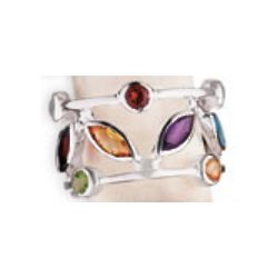 Juliet Sterling and Gemstone Ring