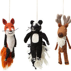 Woodland Animals Finger Puppet Ornament