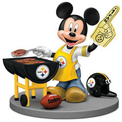 Mickey Mouse Pittsburgh Steelers Tailgating Figurine