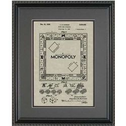 Monopoly Framed Patent Art Print